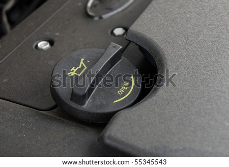 oil filler cap - stock photo