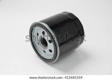 oil filter background - stock photo