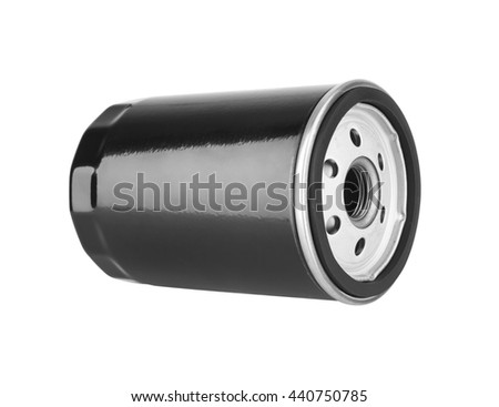 Oil Filter isolated on the white background - stock photo