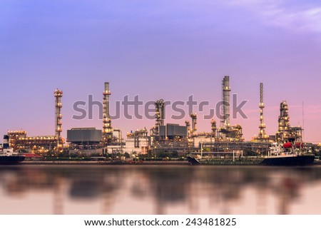 oil gas petroleum refinery station - stock photo
