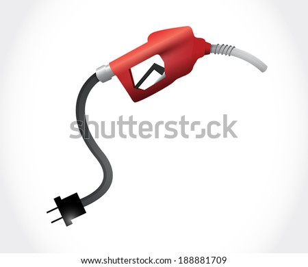 oil gas pump illustration design over a white background