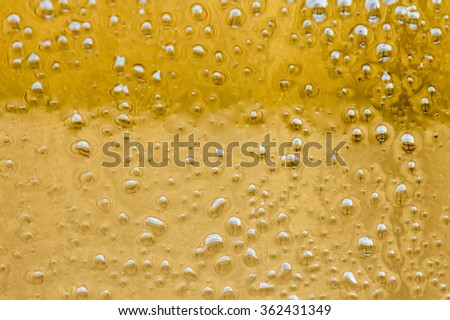 Oil, golden yellow background.