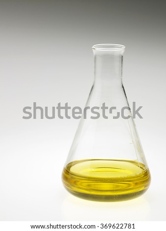 oil in the flask