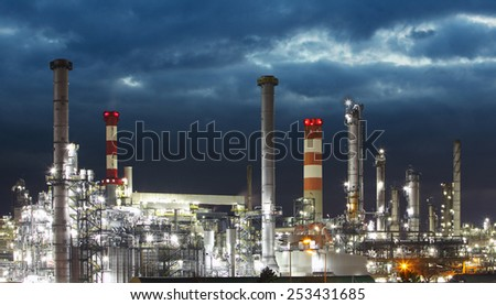 Oil Industry - refinery factory - stock photo