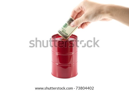 Oil investment - stock photo