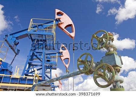 Oil latch. Gas pipeline - stock photo