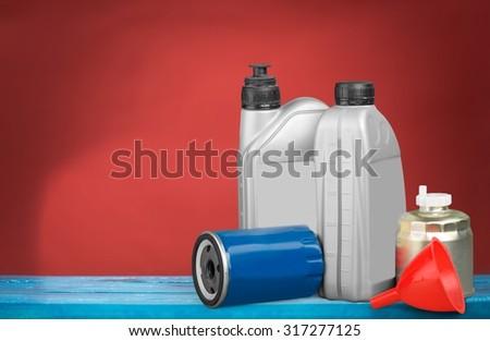 Oil lubricant. - stock photo