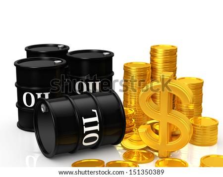 oil money - stock photo