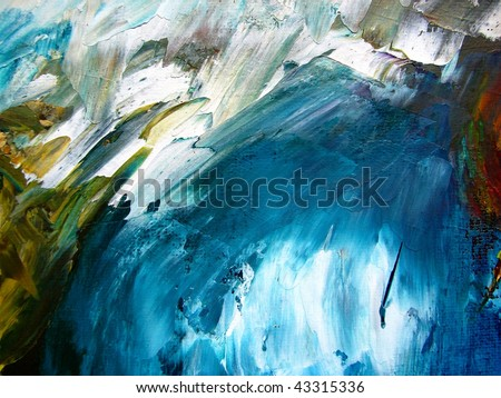 oil on canvas, abstract background - stock photo