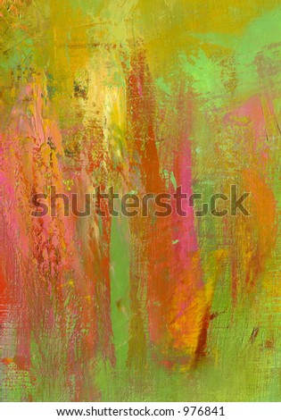 Oil on Canvas Original Painting Brush Strokes Abstract Backgroung