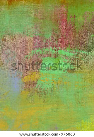 Oil on Canvas Painting Brush Strokes Art Background