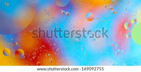Oil on water abstract colored background - stock photo