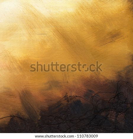 Oil paint on canvas background, high resolution, texture of canvas and brush strokes can be seen clearly. - stock photo