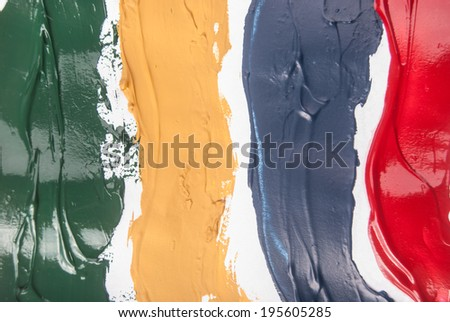 Oil paint on paper. Abstract background. - stock photo