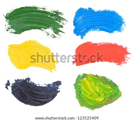 oil paint spot isolated on white background - stock photo