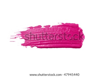 oil paint stroke on white background - stock photo