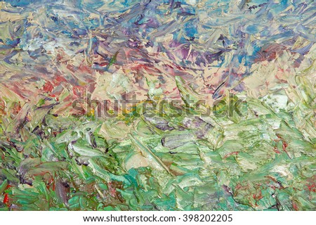 Oil painting abstract background. Palette knife paint texture. Art concept. - stock photo