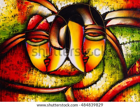 Oil Painting - Abstract Face