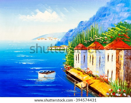 Oil Painting - Greece