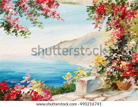 Oil Painting Flowers Stock Images Royalty Free Images Vectors Shutterstock