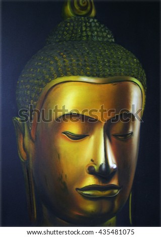 Oil Painting,original,buddha,meditation
