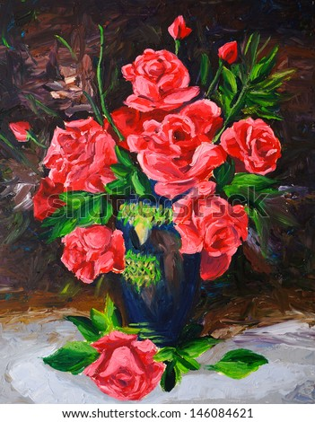 Oil Painting - Rose