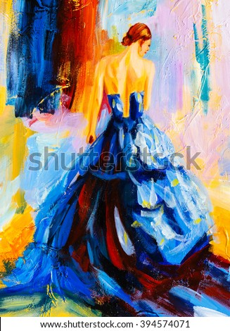 Oil Painting - Spanish Dancer