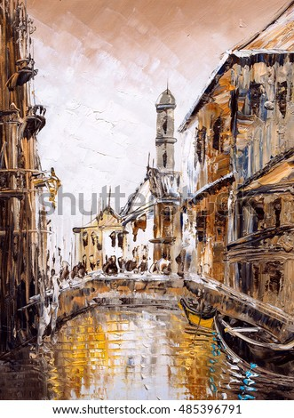 Oil Painting - Venice, Italy