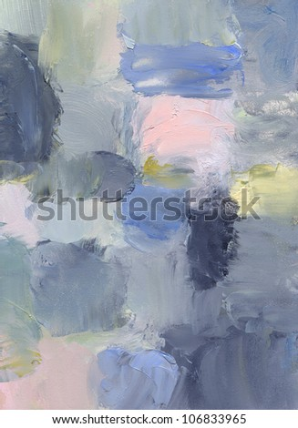 oil paints on hardboard - abstract painting - stock photo