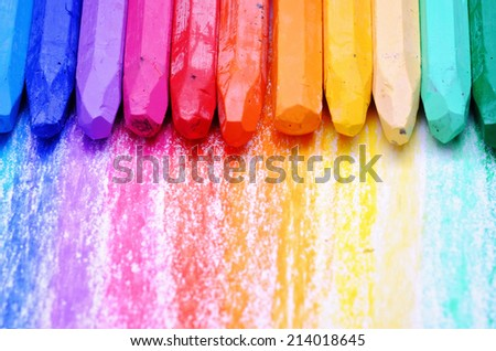 oil pastels - stock photo