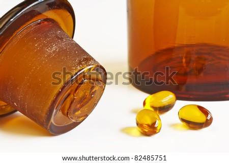 oil pills - stock photo