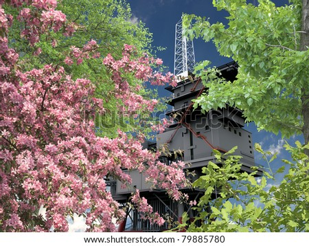 oil platform - stock photo