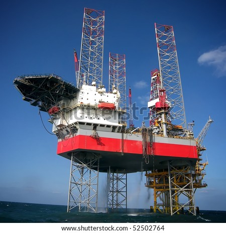 Oil platform-Energy Industry Concept - stock photo