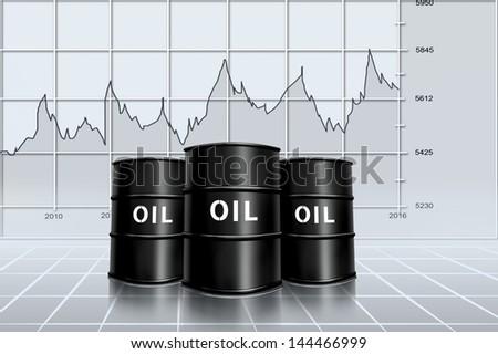 oil price analysis - stock photo