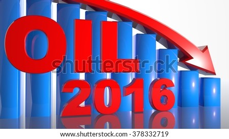 Oil price falling concept 2016