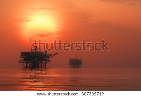 Oil production into the sea
