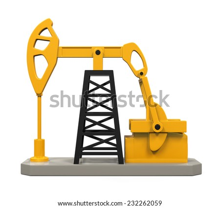 Oil Pump Isolated - stock photo