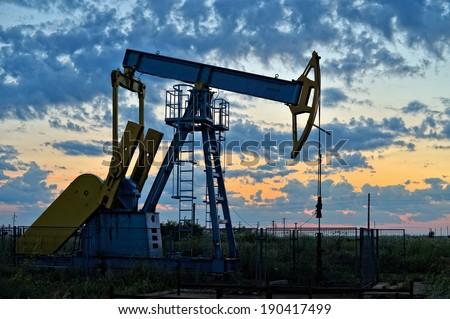 Oil pump. Oil industry equipment. - stock photo