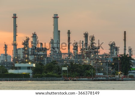 Oil refinery and chemical plant