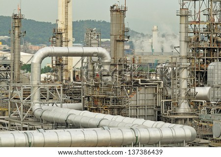 Oil Refinery factory morning
