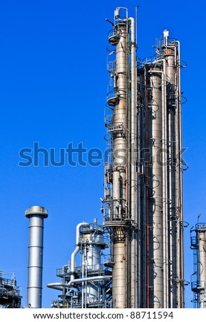 Oil Refinery (Heavy Industry Complex / Plant) - stock photo