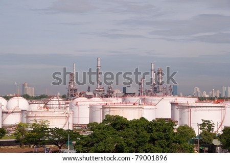 Oil refinery in a morning.