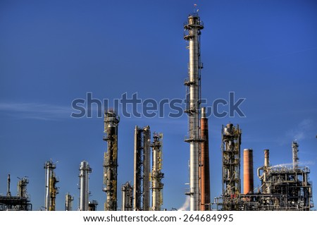 Oil Refinery in Germany - stock photo