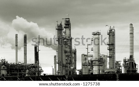 Oil refinery in Washington state, USA