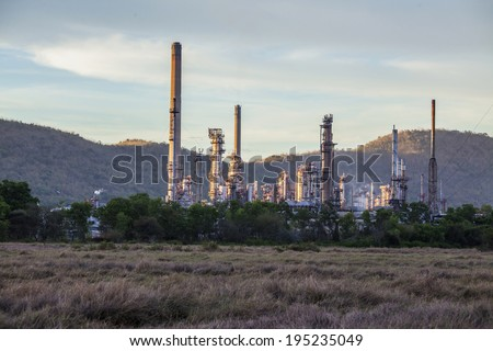 oil refinery , thailand