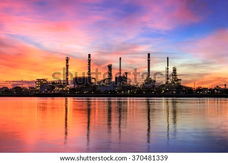 Oil refinery ,Twilight, Thailand