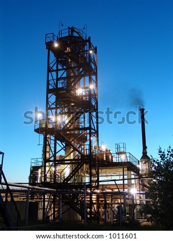 Oil refining factory - stock photo