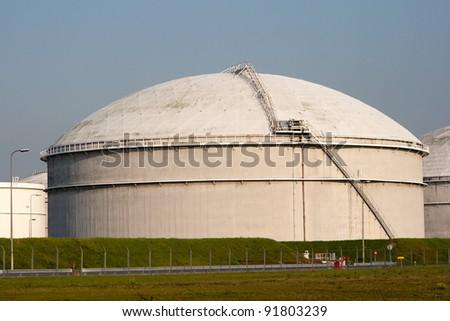 Oil reservoir - stock photo