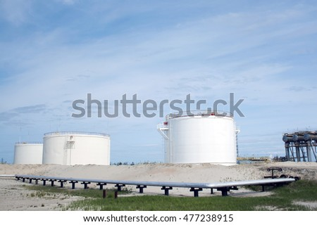 Oil reservoir. Gas refinery