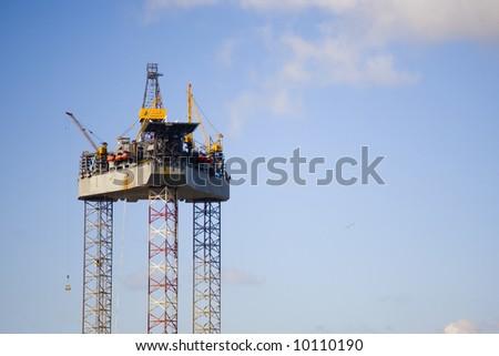 Oil rig 1 - stock photo